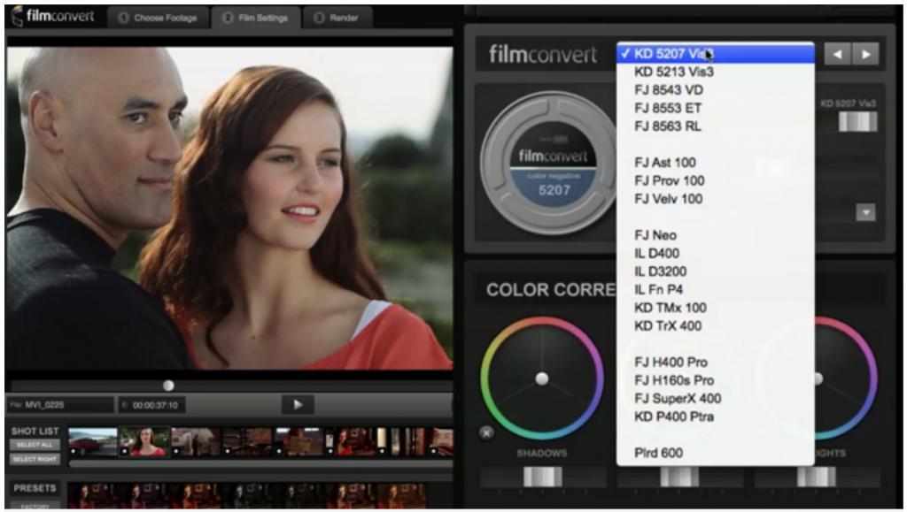 Film Convert - match digital to film