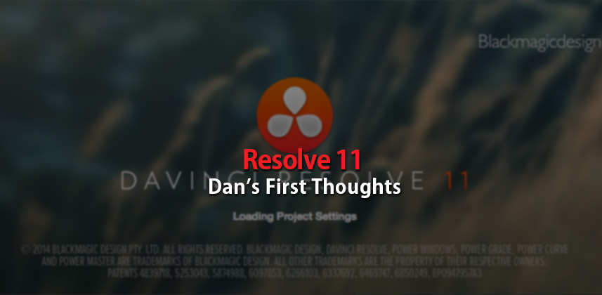 Davinci Resolve 11 first impressions
